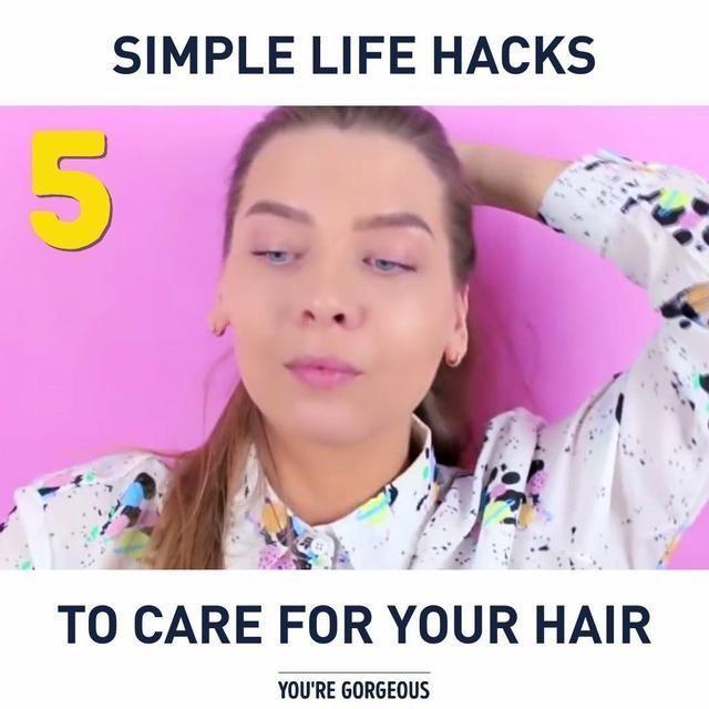 Simple Life Hacks to Care for Your Hair #haircarehacks