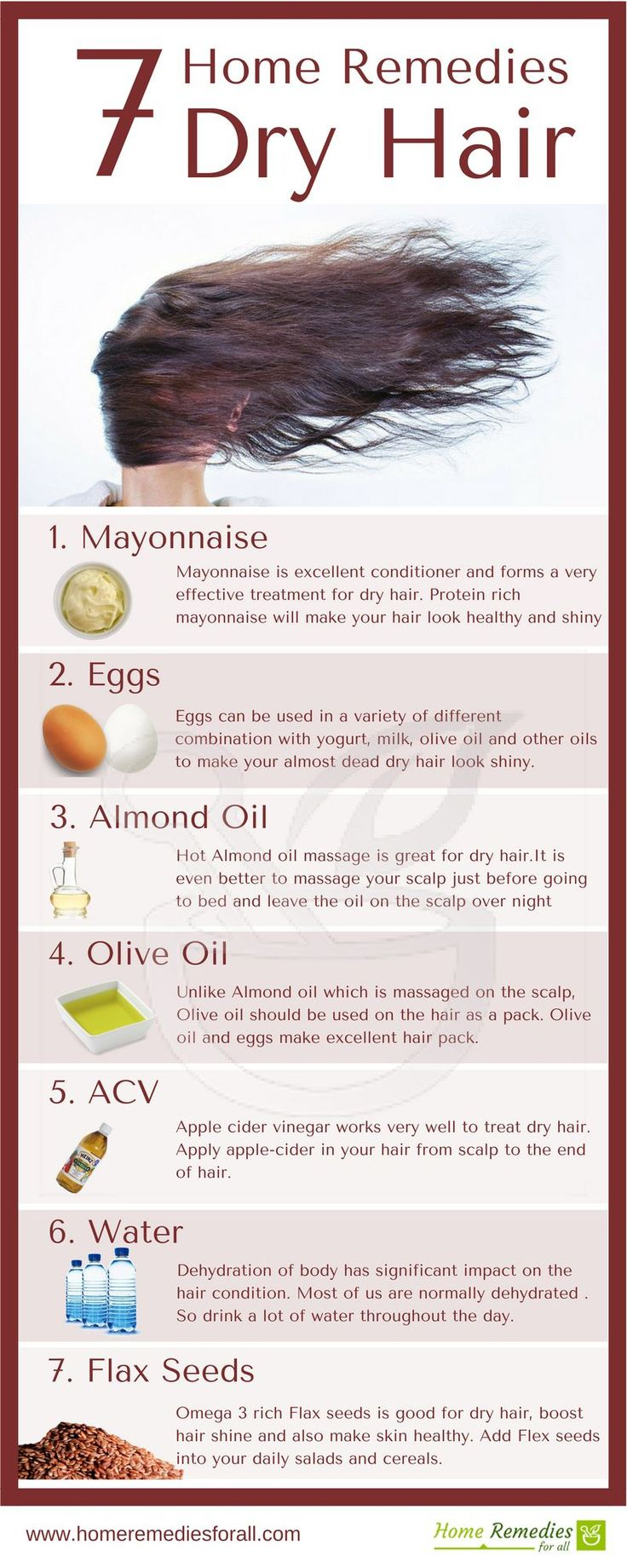 These 7 home remedies for dry hair will make your hair healthy, glossy and shiny...