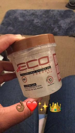 Eco Styler Coconut Oil Infused Gel ❤️ this gel has a stronger hold than I an...