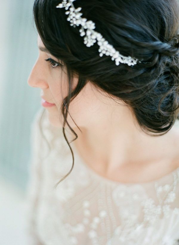 Featured Photographer: Les Anagnou Photographers; Wedding hairstyles ideas.