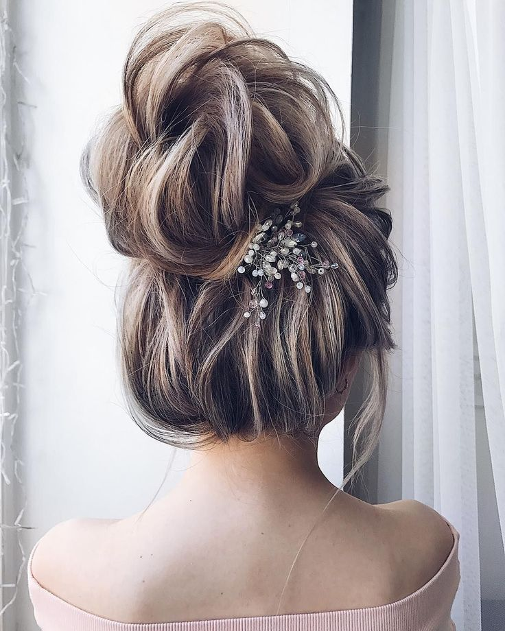 Bridal Hairstyles Textured Wedding Updo Hairstyle Messy Updo