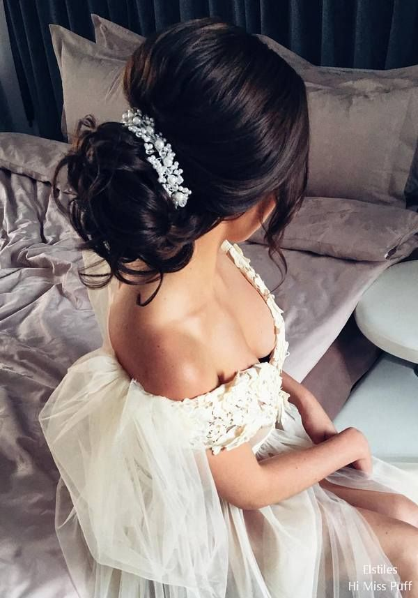 Elstile Long Wedding Hairstyles and Updos  #wedding #weddinghairstyles #weddingi...