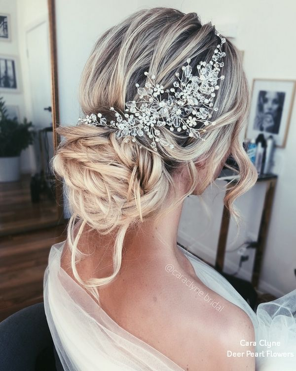 Cara Clyne Long Wedding Hairstyles and Wedding Updos #weddings #hairstyles #hair...