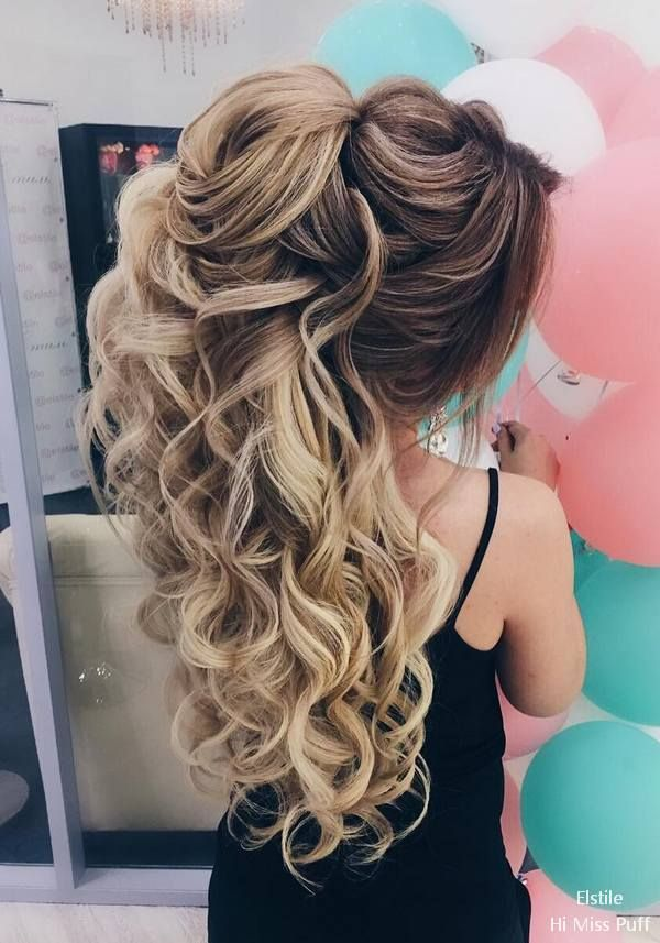 Elstile Long Wedding Hairstyles #wedding #weddinghairstyles #weddingideas #weddi...