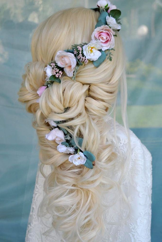 33 Unforgettable Wedding Hairstyles With Flowers ❤ wedding hairstyles with flo...