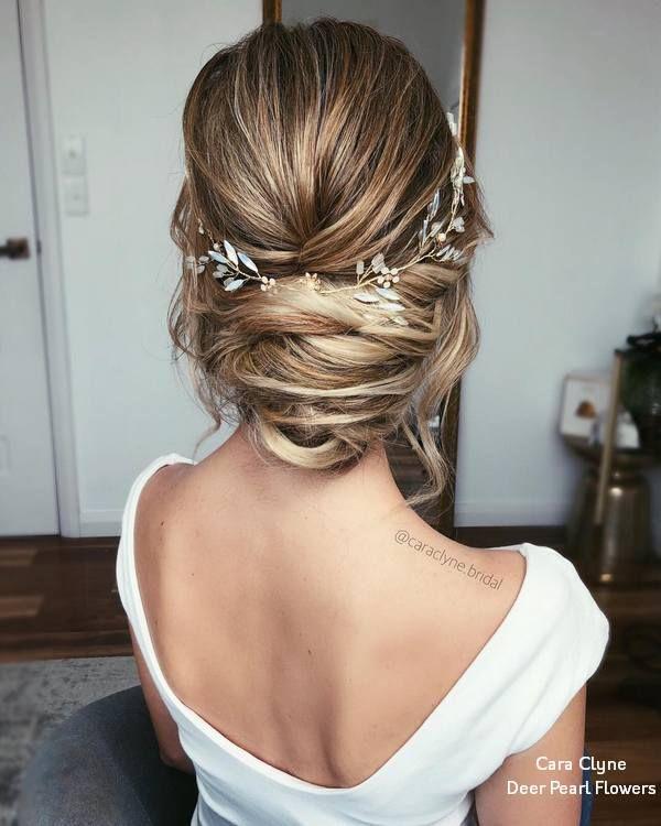 Cara Clyne Long Wedding Hairstyles and Wedding Updos #weddings #hairstyles #hair...