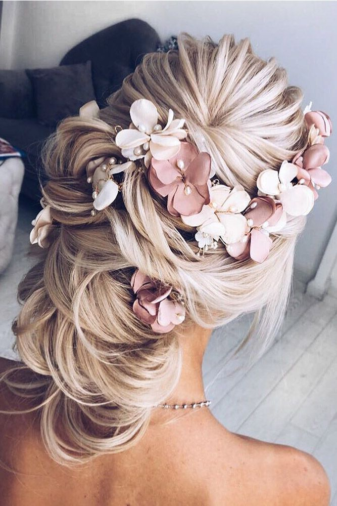 30 Best Elstile Wedding Hairstyles ❤ elstile wedding hairstyles swept back wit...