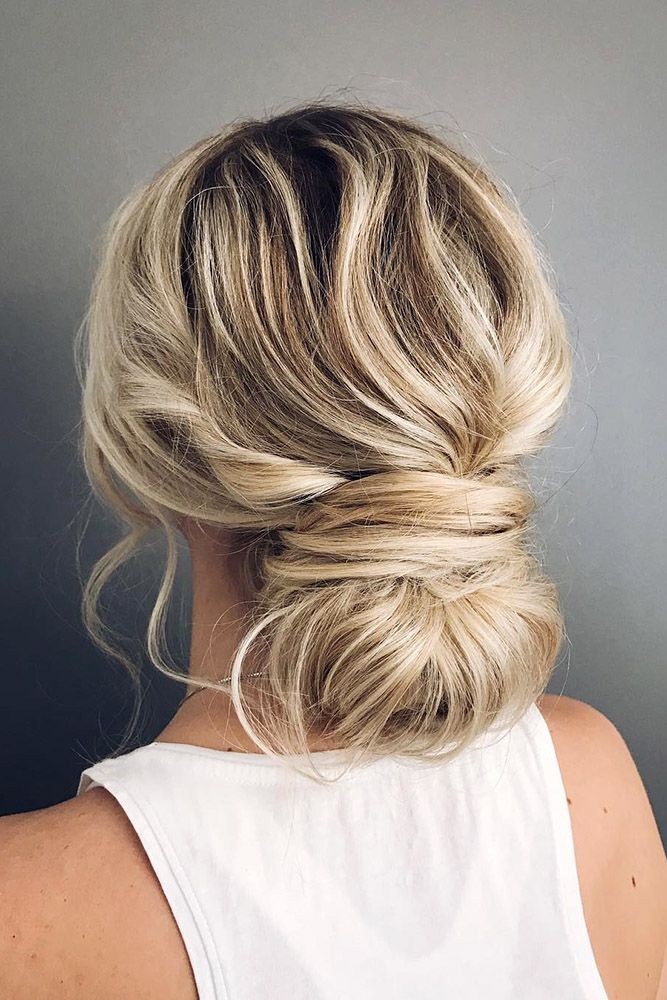 30 Bridesmaid Updos - Elegant And Chic Hairstyles ❤ bridesmaid updos messy low...