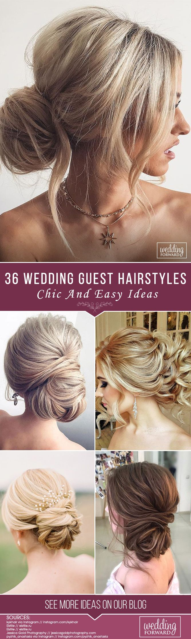 36 Chic And Easy Wedding Guest Hairstyles ❤ Wedding guest hairstyles should be...