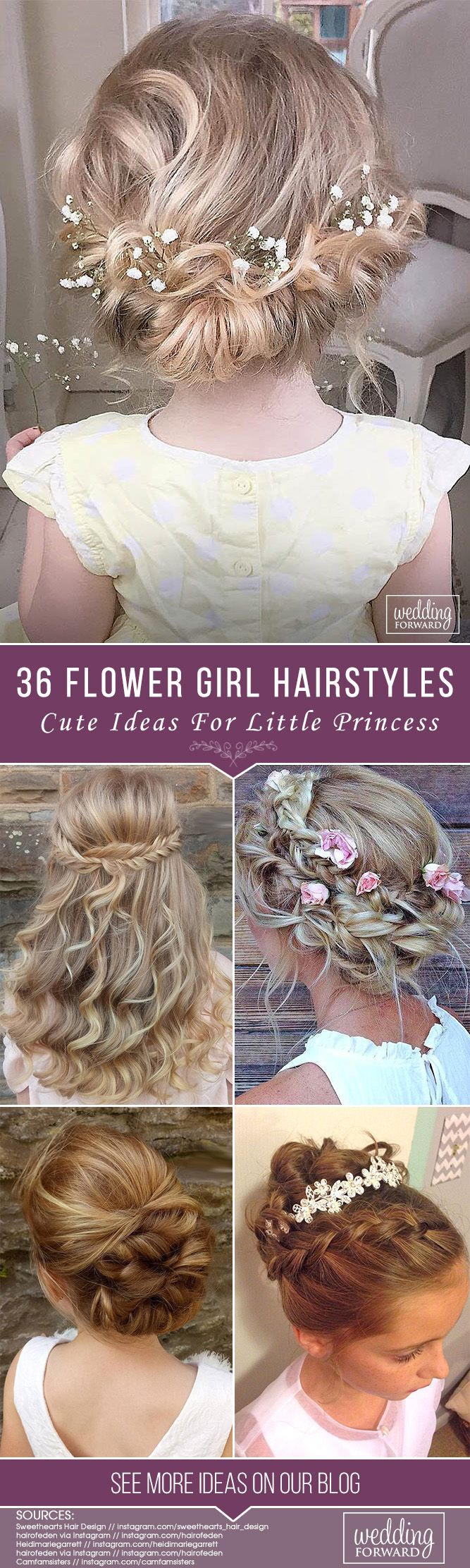 36 Cute Flower Girl Hairstyles ❤ What kind of hairstyle do you plan for the be...