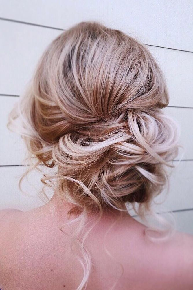 45 Mother Of The Bride Hairstyles ❤ timeless bridal hairstyles messy curly low...