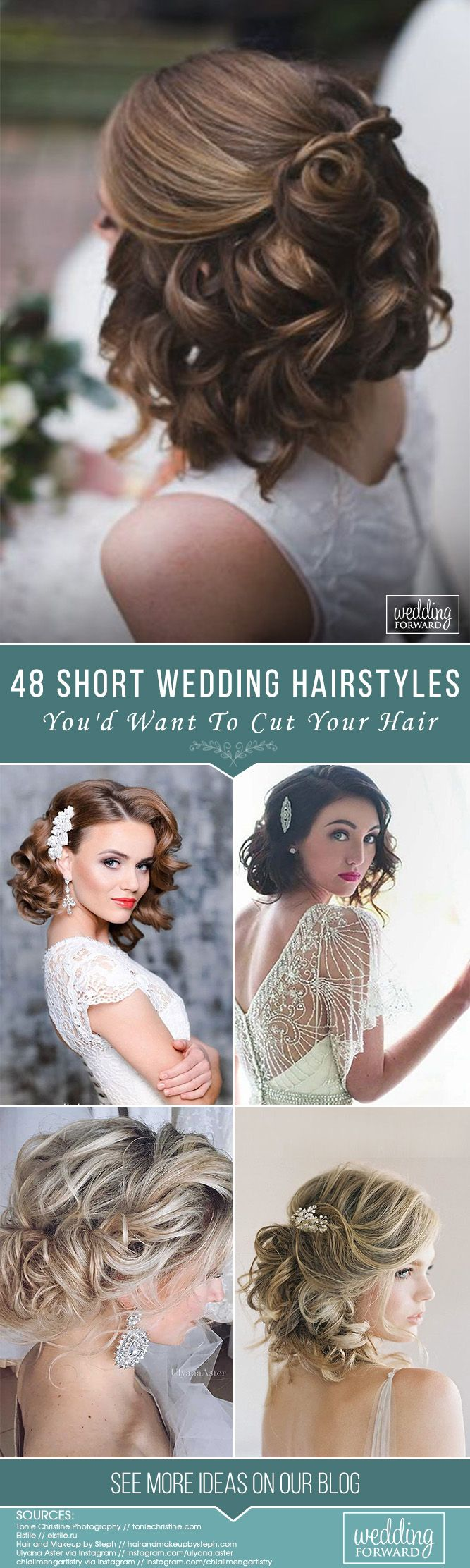 48 Short Wedding Hairstyle Ideas So Good You'd Want To Cut Your Hair ❤ Just be...