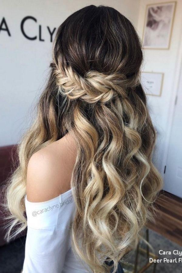 Cara Clyne Long Wedding Hairstyles and Wedding Updos