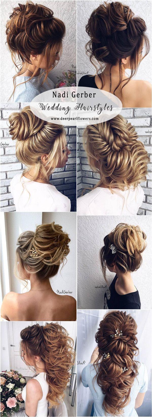Nadi Gerber Long Bridal Hairstyles Updos for Wedding  #weddings #weddinghair #ha...