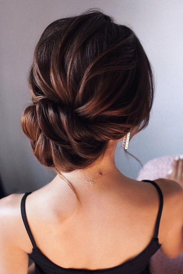 Wedding Hairstyles Elegant Low Bun Updo Wedding Hairstyle Wedding