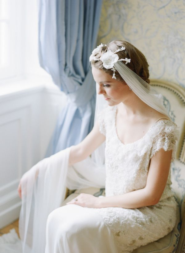 Bridal Hairstyles Vintage Boho Lace Wedding Dress And Chiffon