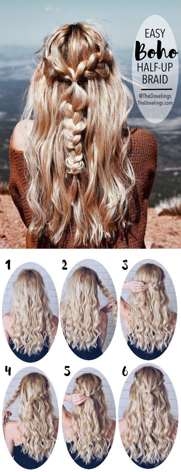 Hair Tutorials Boho Braids Hairstyle Long Hair Styles Blonde Hair
