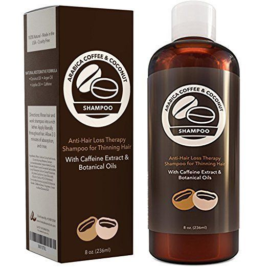 Hair Loss Shampoo with Arabica Coffee House Caffeine Extract - Daily Volumizing ...