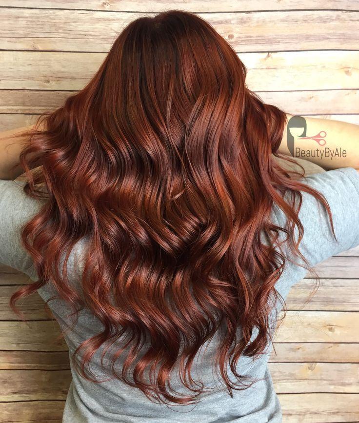 Dark copper hair