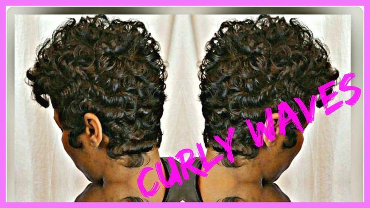 Short Haircuts Curly Waves On Short Haircut Video