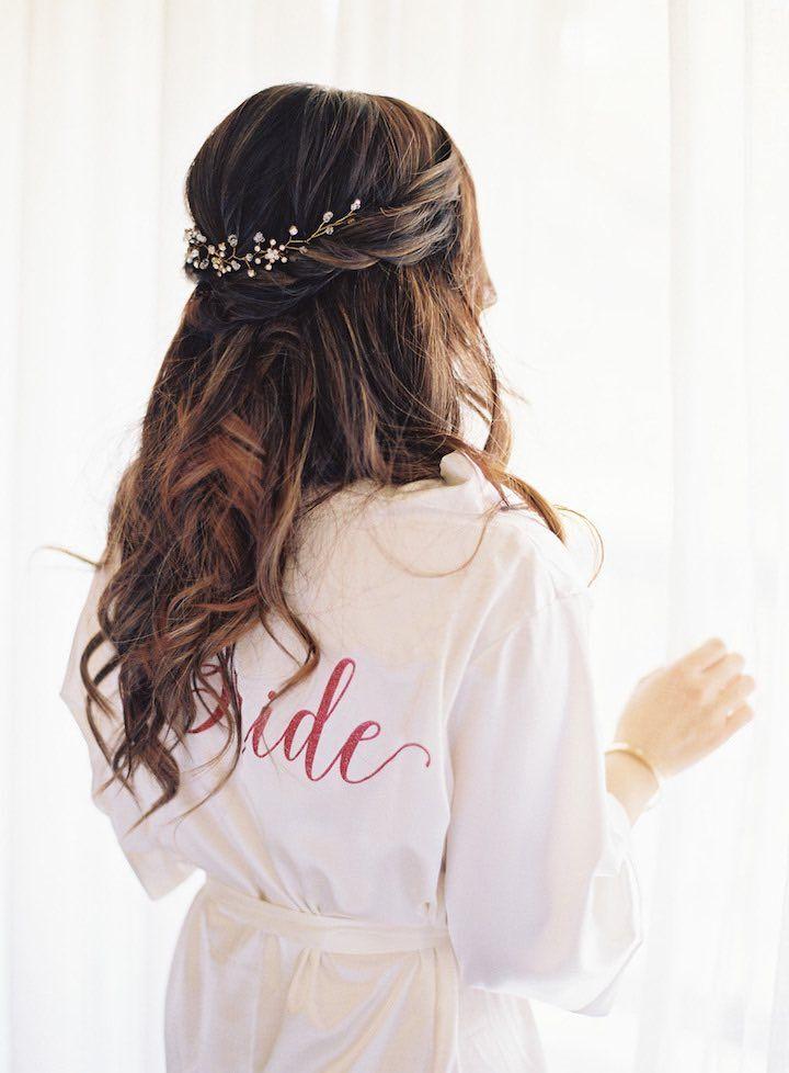 Featured Photographer: Caroline Tran; Wedding hairstyles ideas.