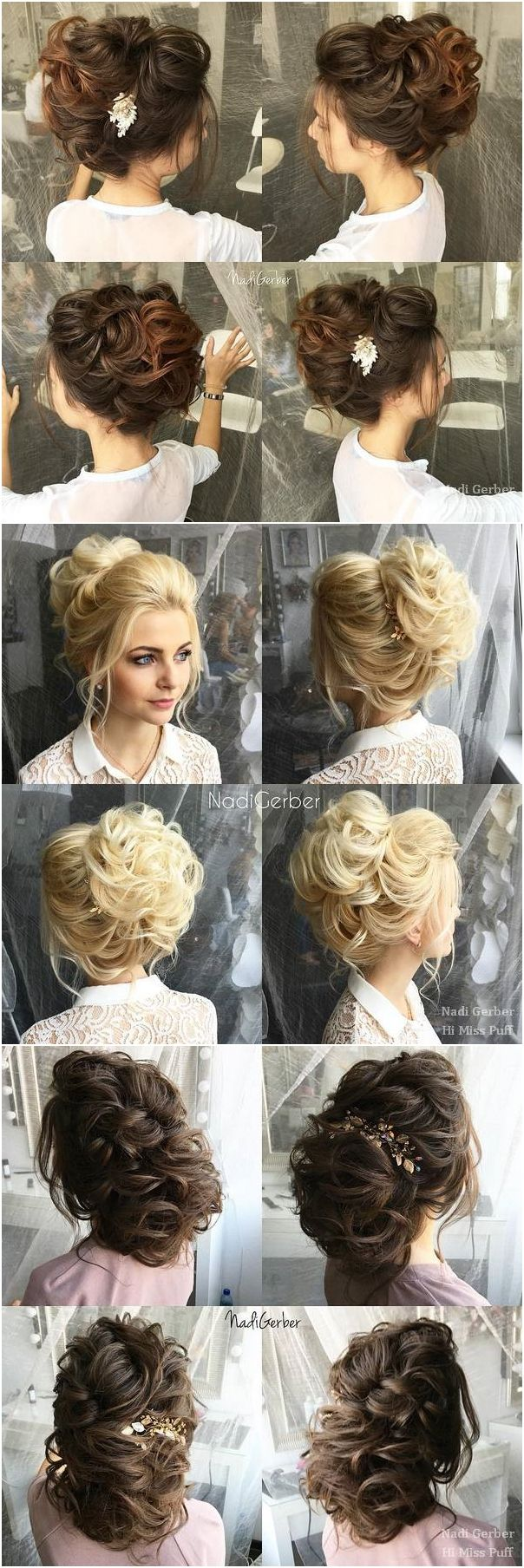 Wedding Hairstyles and Wedding Updos from Nadi Gerber  #wedding #weddinghairstyl...