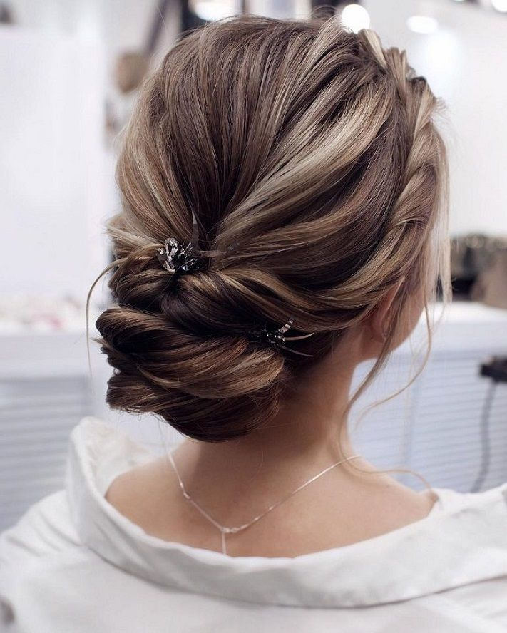 Beautiful wedding updo hairstyle ,messy updo wedding hairstyles ,chignon , messy...