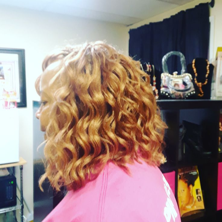 Side view Crochet Braids w/ Kima Ocean Wave Hair