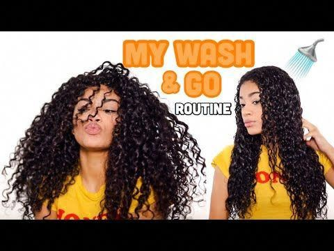 MY WASH AND GO ROUTINE! + Defined Curls | Natural Hair | jasmeannnn - YouTube #N...