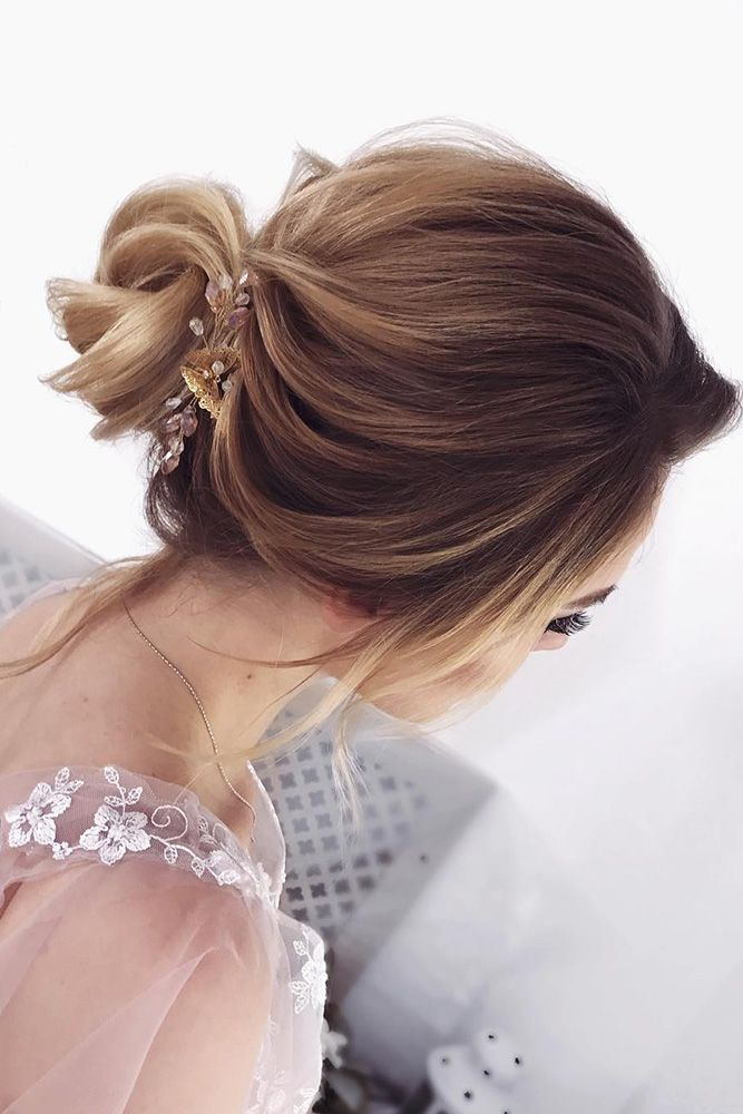 30 Eye-Catching Wedding Bun Hairstyles ❤ wedding bun hairstyles small textured...