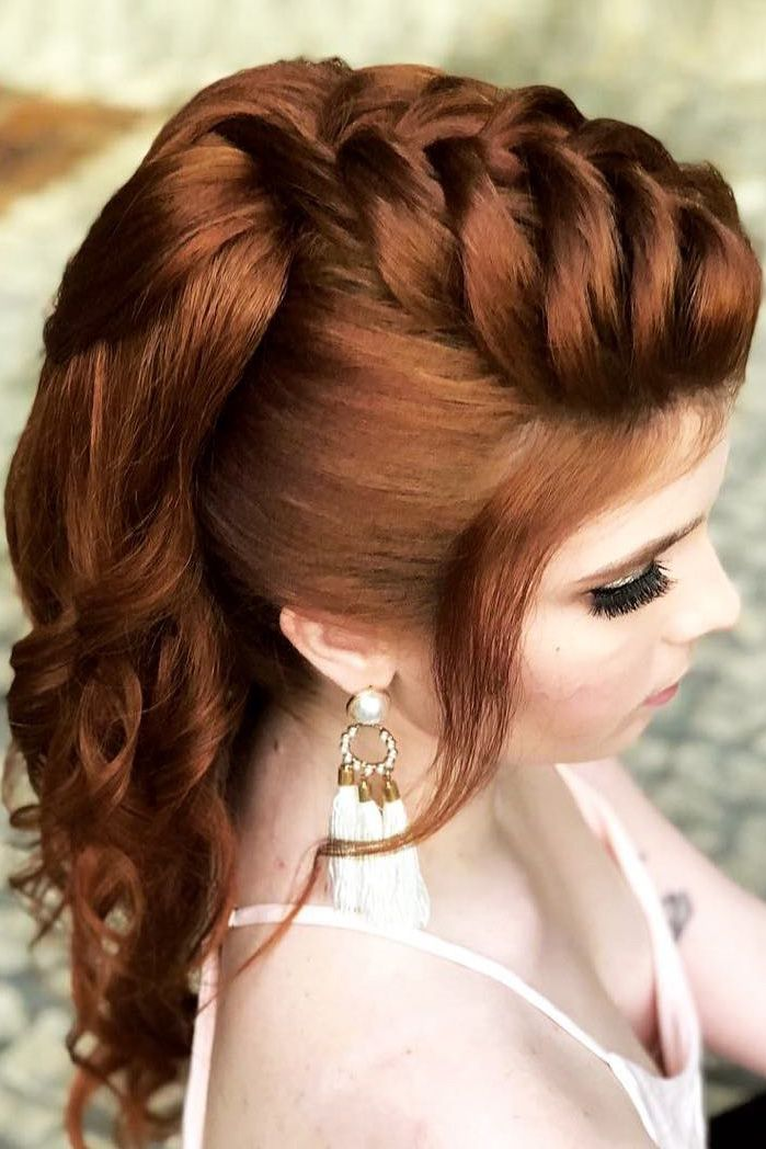 30 Wedding Hairstyles Half Up Half Down With Curls And Braid ❤ half up half do...