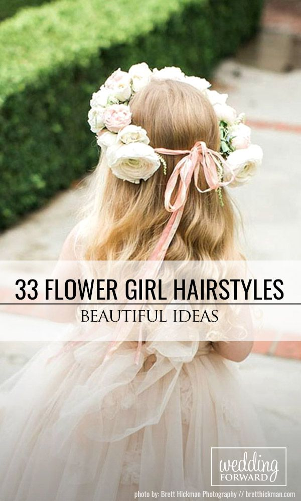 33 Cute Flower Girl Hairstyles ❤ Here you find some simple flower girl hairsty...