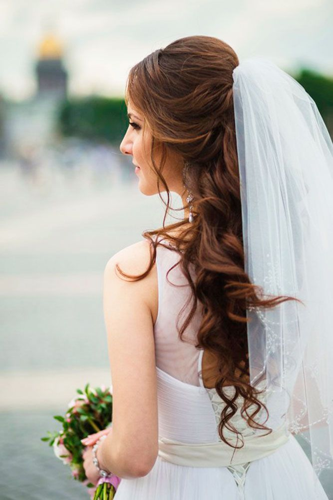 42 Wedding Hairstyles With Veil Wedding veil is an undisputed symbol of every br...