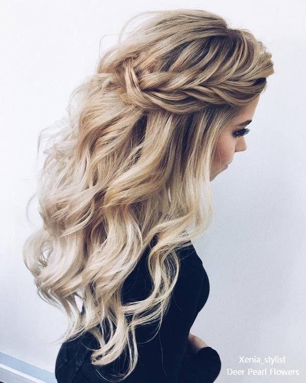 Half up half down wedding hairstyles from xenia_stylist #weddings #weddingideas ...