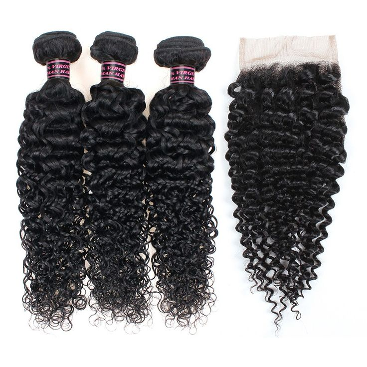 Best Selling 8A Virgin Hair Kinky Curly Hair with Closure 100% Unprocessed Human...