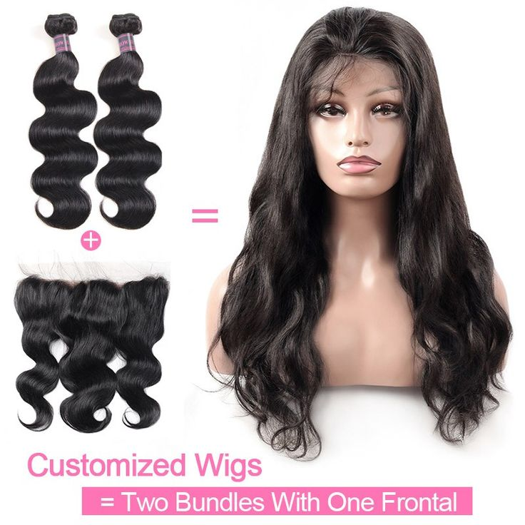 Customized Wig By 2Pcs Body Wave Human Hair With One Lace Frontal 130% Destiny 1...