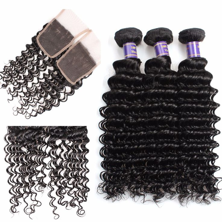Good Quality Allove 8A Hair Deep Wave Bundles With  Closure Human Hair Brazilian...