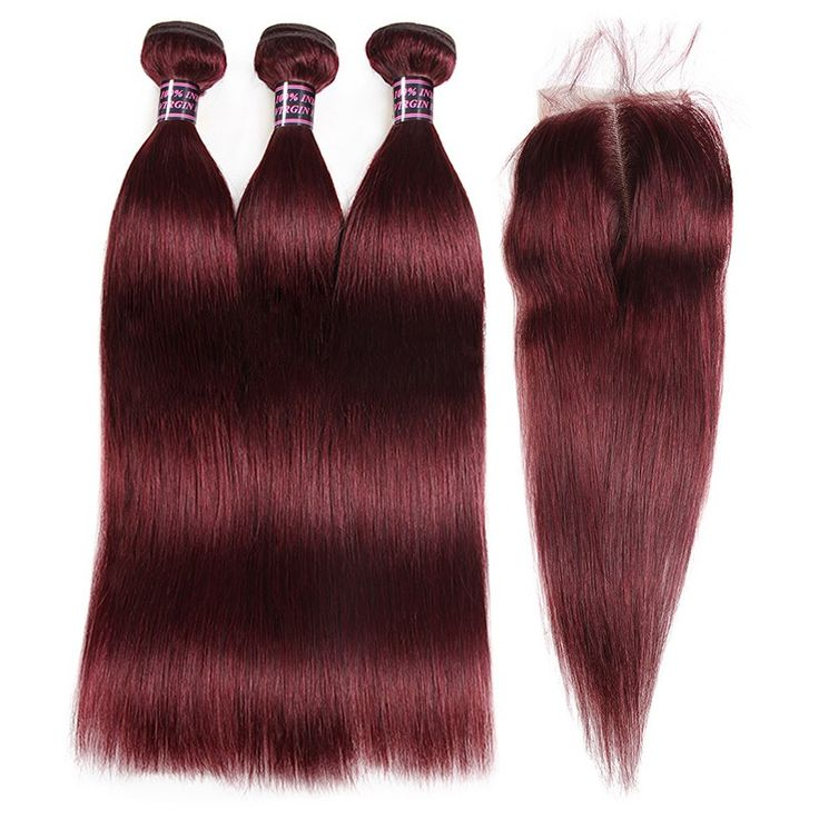 Malaysian Brazilian Body Wave Hair 3 Bundles With Free Part Lace Closure 100% Un...