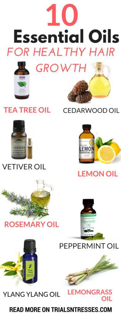 1o essential oils for healthy hair growth #haircarehacks