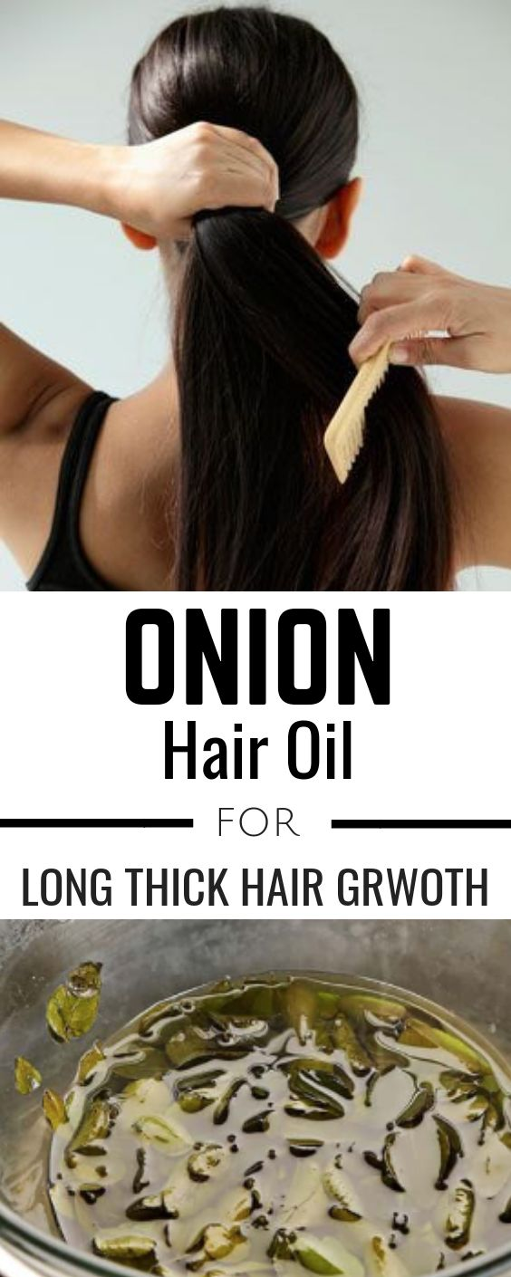 Homemade hair oil with onion and garlic to boost new hair growth #hair #haircare...