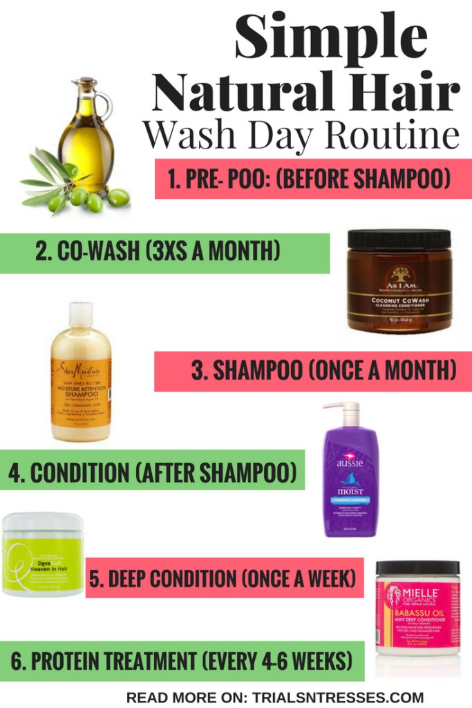 Simple natural hair wash day routine #haircarehacks
