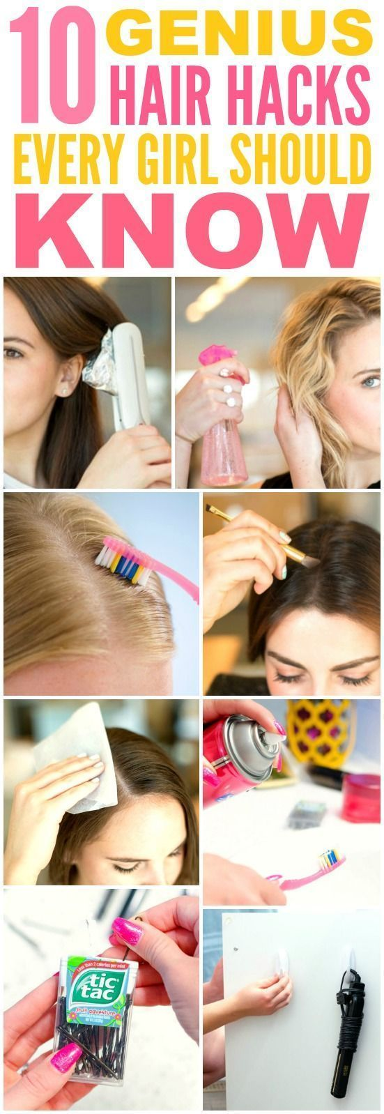 These 10 genius hair hacks every girl should know are THE BEST! I'm so glad I fo...