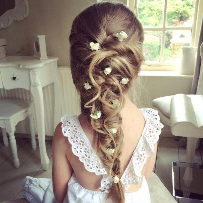 Hairstyle Tresses Coiffure Petite Fille Communion 40 Coiffures De