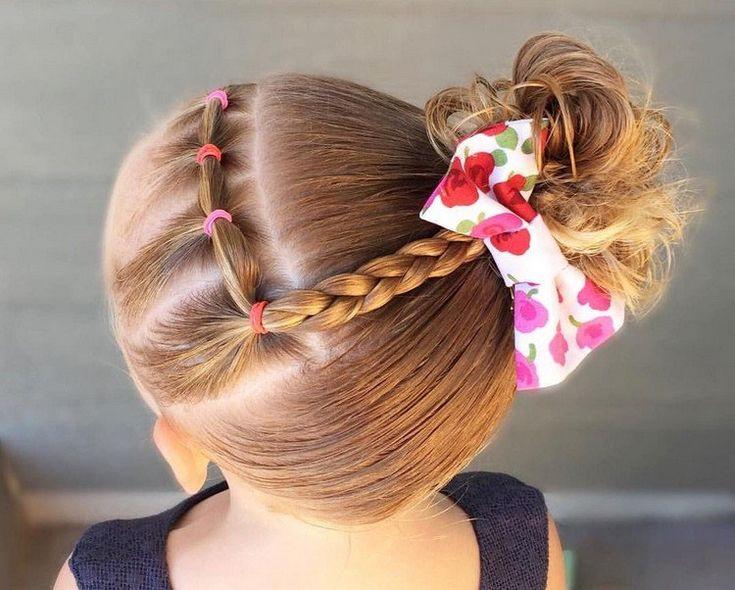 coiffure petite fille tresse originale idée rentrée tout type cheveux #hairsty...
