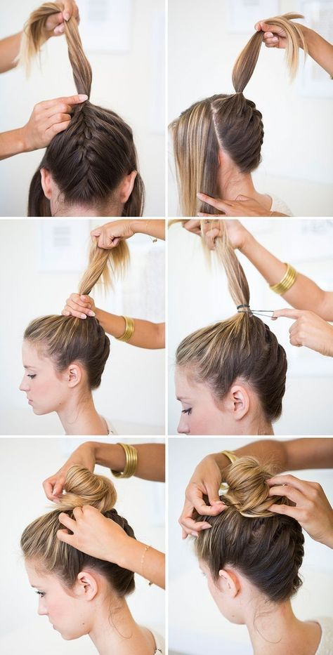 Hairstyle Tresses Tuto Chignon Bun Haut Facile Sublime Par Une Tresse Inversee Idee Pour Une C Beauty Haircut Home Of Hairstyle Ideas Inspiration Hair Colours Haircuts Trends