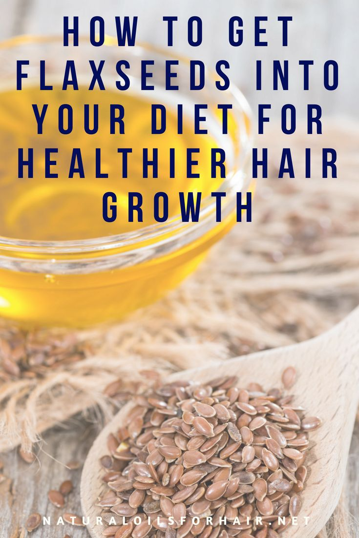How to get flaxseeds into your diet for healthier hair growth. #hair #haircare #...