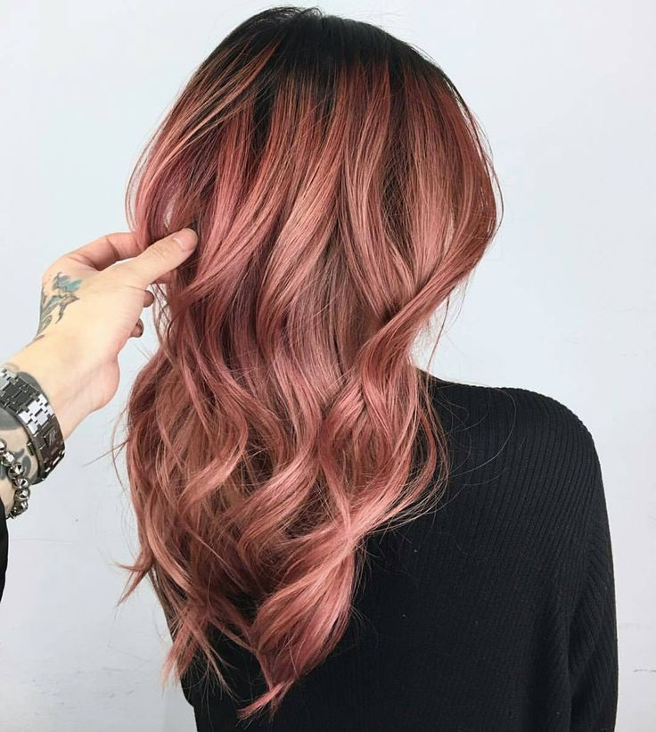 Trendy Hair Color Highlights Rose Gold Formulas Pricing