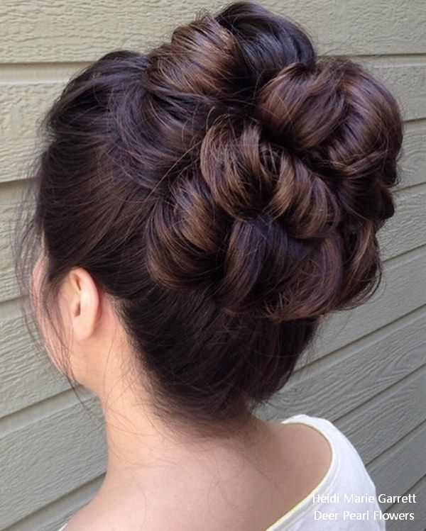 Long Updo wedding hairstyles from Heidi Marie Garrett #weddings #hairstyles #wed...