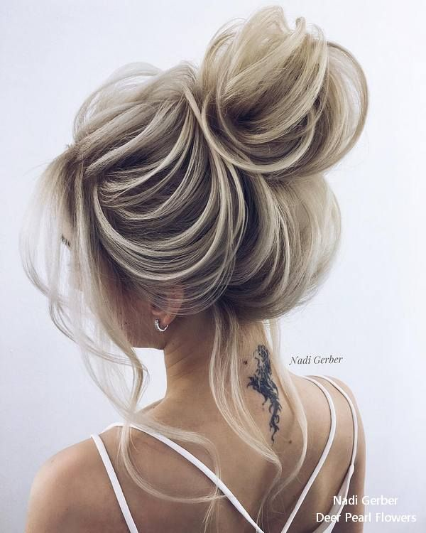 Nadi Gerber high updo wedding hairstyles #weddings #weddingideas #hairstyles #we...