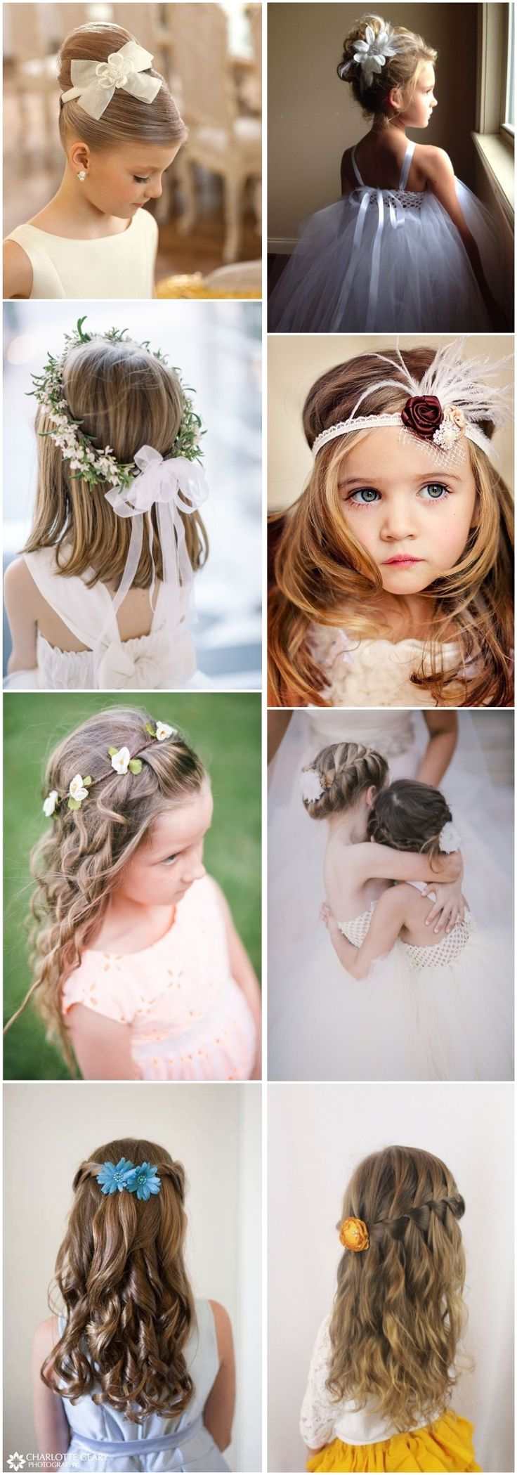 cute little girl hairstyles-updos, braids, waterfall #weddings #hairstyles #wedd...